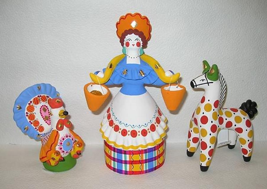 Дымковские игрушки из глины своими руками мастер класс